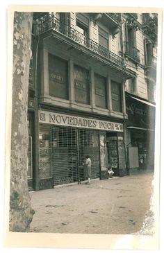 Façana de La Mallorquina abans de la inauguració, al 1945
