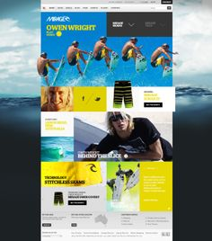 Ripcurl Mirage 3 Promo Site by Mark Kozlowski, via Behance