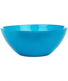 LARGE SOLID TURQUOISE ROPE BOWL