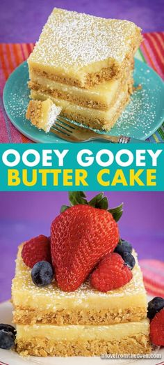WOW! This Ooey Gooey Butter Cake is SUPER easy to make and my family absolutely loved it! The crust is made with a cake mix and the top layer is a super yummy cream cheese mixture. Definitely making this recipe often!