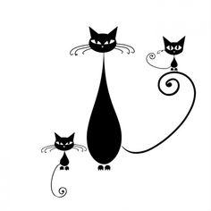 fekete cica rajz - Google keresés