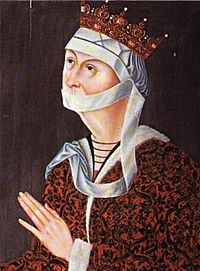 Dorothea of Brandenburg (1430/1431 –10 November 1495) was the consort of Christopher of Bavaria and Christian I of Denmark. Dorothea was the daughter of John, Margrave of Brandenburg-Kulmbach, and Barbara of Saxe-Wittenberg.  She was Queen of Denmark (1445–1448 and 1449–1481), Norway (1445–1448 and 1450–1481), and Sweden (1447–1448 and 1457–1464) two times each. She also served as regent in Denmark during the absences of her spouse.