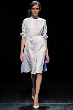 Palmer Harding RTW Spring 2014 white asymmetrical dress #minimalist #fashion #style