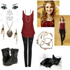 """The Nine Lives Of Chloe King"" by melodical-maniac on Polyvore"
