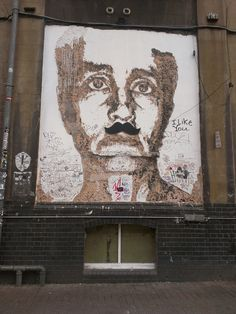 graffiti in truman brewery supporting movember!