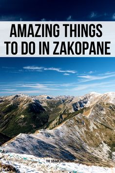 From hiking to funicular ride to museums to delicious Polish food, there are plenty of Zakopane things to do, something for every kind of traveler. Zakopane Poland, Poland Travel, Travel Around Europe, Polish Food, Krakow, Warsaw, Museums, Travel Guide, Things To Do