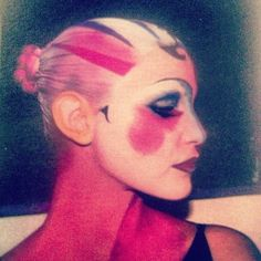 A Comme des Garcons make up shot from Stephane Marais' personal Polaroid collection