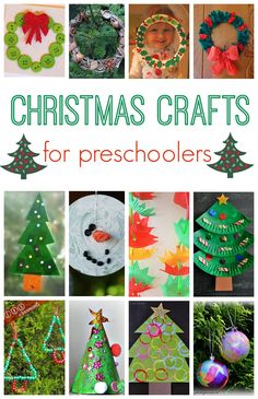 Christmas crafts for preschoolers. Preschoolers love Christmas crafts and these ideas will keep them entertained for ages.