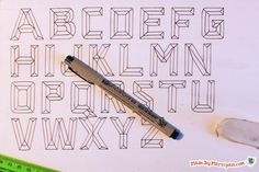 Learn to draw and paint beveled prism lettering. This hand lettered type has a 3D effect that pops!