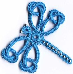 Beaded dragonfly, this is tatted but wonder if I could re-do it to crochet