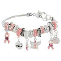 Charmed Life Pink Ribbon Bracelet at The Breast Cancer Site