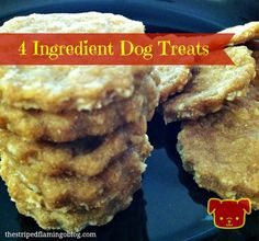 4 Ingredient Dog Treats via The Striped Flamingo (@April Cochran-Smith Cochran-Smith Cochran-Smith Geiger) on the BBS Healthy Dog Blog! #dogtreatrecipes #recipes #dogtreats // BestBullySticks.com