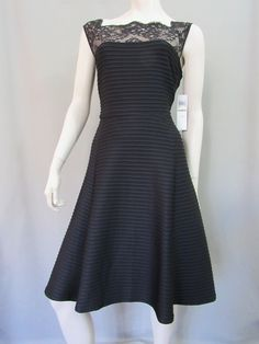 London Style Nights Dress Size 14 Black Lace Cocktail Sleeveless Stretch New #LondonStyleNights #Shift #Cocktail