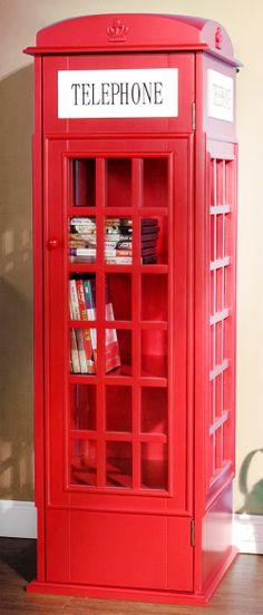 Telephone booth bookshelf // a definite conversation-starter! hehe #furniture_design