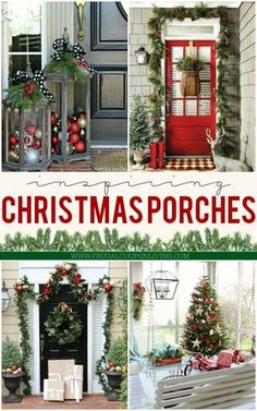Christmas Decor - Christmas Porch Ideas to help you get your home holiday ready and your curb appeal top notch on Frugal Coupon Living! #christmasdecor #christmasporch #hometours #holidaydecor #holidayhome