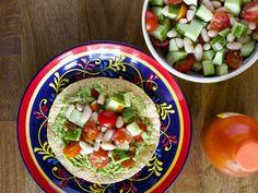 Cucumber and Bean Salad Tostadas #MeatlessMonday