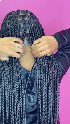 Braided Hairstyles For Black Women Cornrows, Box Braids Hairstyles For Black Women, Braids For Black Hair, Medium Hair Braids, Black Girl Braids, Hair Ponytail Styles, Ponytail Hairstyles, Curly Hair Styles, Protective Hairstyles