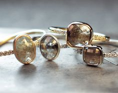 Chinchar Maloney ethically-sourced raw diamond jewellery.