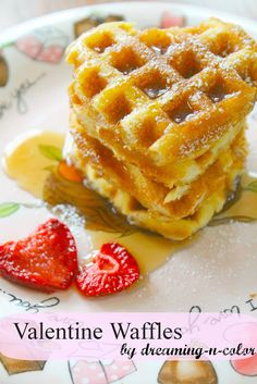 Heart Shaped Waffles for Valentines Day