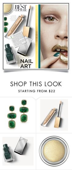 """""""Green With Envy: Wintery Nail Polish"""" by ewa-naukowicz-wojcik ❤ liked on Polyvore featuring beauty, Anne Sisteron, Burberry, Christian Dior and nailedit"""