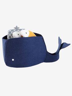 Bac Baleine en feutrine. - Bleu - 2