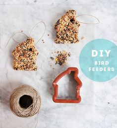 diy bird feeders by Design Sponge Diy Projects To Try, Projects For Kids, Crafts For Kids, Craft Projects, Diy Crafts, Craft Ideas, Outdoor Projects, Fun Ideas, Creative Ideas