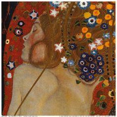 Water Serpents II by Gustav Klimt