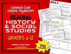 This set includes 78 organizers for the 10 RH standards. Also includes a sample research rubric and helpful teacher resources for using the organizers.