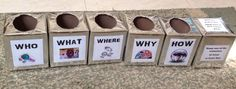 Vbs spy theme review question boxes and review dice game.