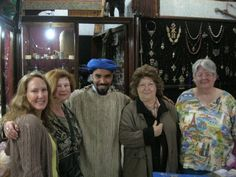 My friends and I in a Tuareg artefact shop in Morocco