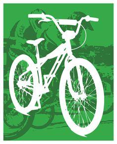 BMX Bike  Custom BMX Bicycling Racing  8x10 by CandyColorWorld Bmx Girl, Cricut Explore Air, Bmx Bikes, Bicycling, Year 8, Racing, Beckham, Bedroom Ideas, Adventure