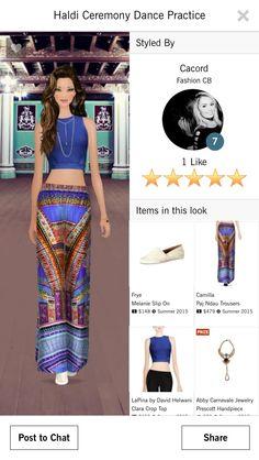 "Look by Carolina Cordeiro for Haldi Ceremony Dance Pratice   5 stars Covet Fashion - Jet Sets -----------------------------------------------------------------  Look por Carolina Cordeiro para evento ""Haldi Ceremony Dance Pratice""  5 Estrelas Covet Fashion - Jet Sets"