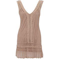 Crochet dress ($60) ❤ liked on Polyvore