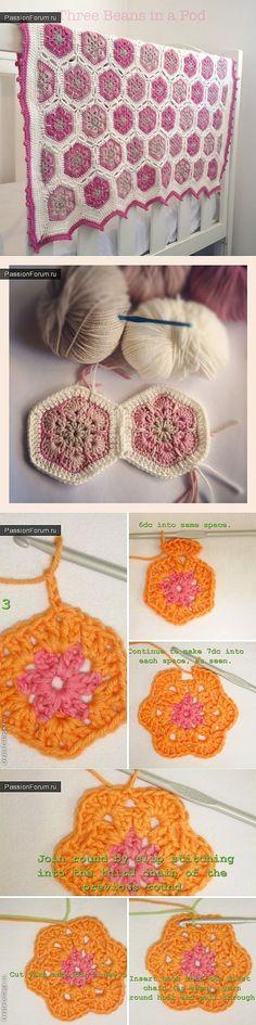 crochet blanket flower...♥ Deniz ♥