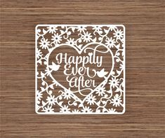 Happily Ever After Wedding / Anniversary gift PDF SVG Instant Download Digital Papercut Template by ArtyCuts on Etsy