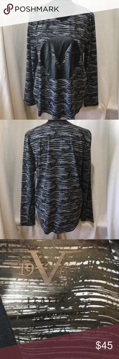 NWT Versace V 1969 Black & White Long Sleeve Shirt NWT Versace V 1969 Black & White Long Sleeve Shirt. There is a big V in the middle of the shirt.  Available in Medium and Large. Versace Shirts Tees - Long Sleeve