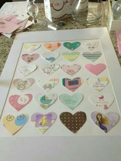 Transform baby shower cards into a picture for the baby's room! Wicked cute and adorable!