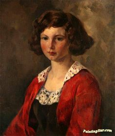 The Red Jacket Artwork by Leon Kroll Hand-painted and Art Prints on canvas for sale,you can custom the size and frame