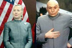Hillary Clinton dressed like Dr. Evil, not on purpose!   Funny!