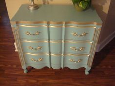 1950s French Provincial 3 drawer dresser by ARCHAICmodern on Etsy, $300.00