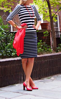 The Classy Cubicle: Stripes on Stripes