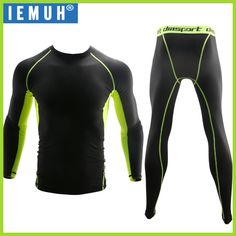IEMUH New Winter Thermal Underwear Sets Men Quick Dry Anti-microbial Stretch Men's Thermo Underwear Male Warm Long Johns Fitness