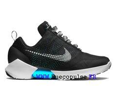 best cheap ce20d f4b80 Nike HyperAdapt 1.0 Baskets De Course Lumineuses Pour Hommes Femmes Blanc  noir bleu 843871-