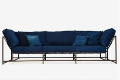 An Indigo Dyed Sofa. Now You Donu0027t Have To Worry About Your Raw
