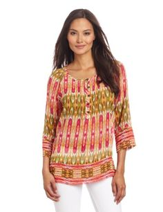 Jones New York Women's Print Mixed Raglan Sleeve Blouse for only $55.30 You save: $23.70 (30%)