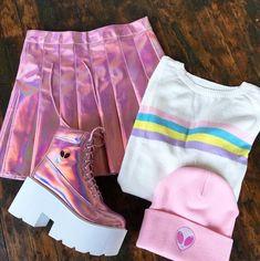 KOKO TUMBLR GIRL holographic skirt