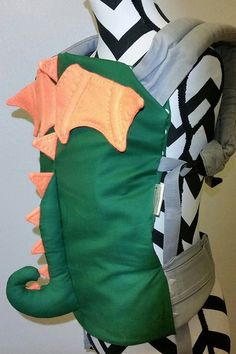 Heres a slipcover for your baby carrier to transform your adorable little one into a dragon!    This is a custom made item and I can make it to