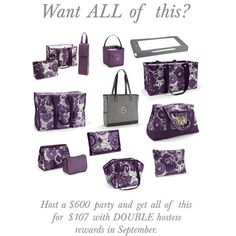September DOUBLE Hostess Rewards in SEPTEMBER!  Contact me to book your party!!