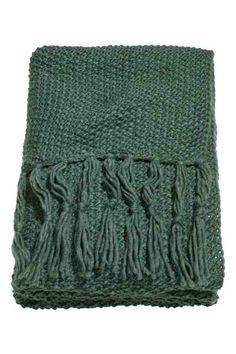 Plaid in maglia a punto riso