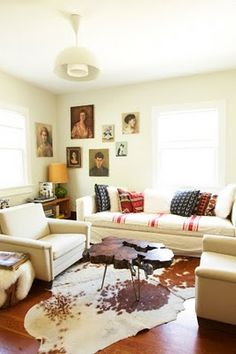 like it! i would switch out rugs, but i like how cozy and layered it looks!